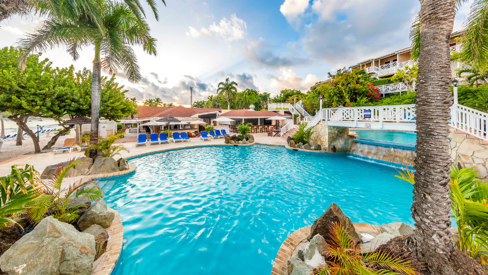 Main pool at the Pineapple Beach Club, Antigua