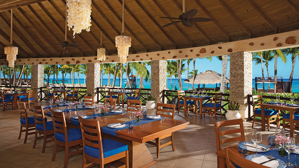 Dining with sea views in Oceana Restaurant at Dreams Punta Cana