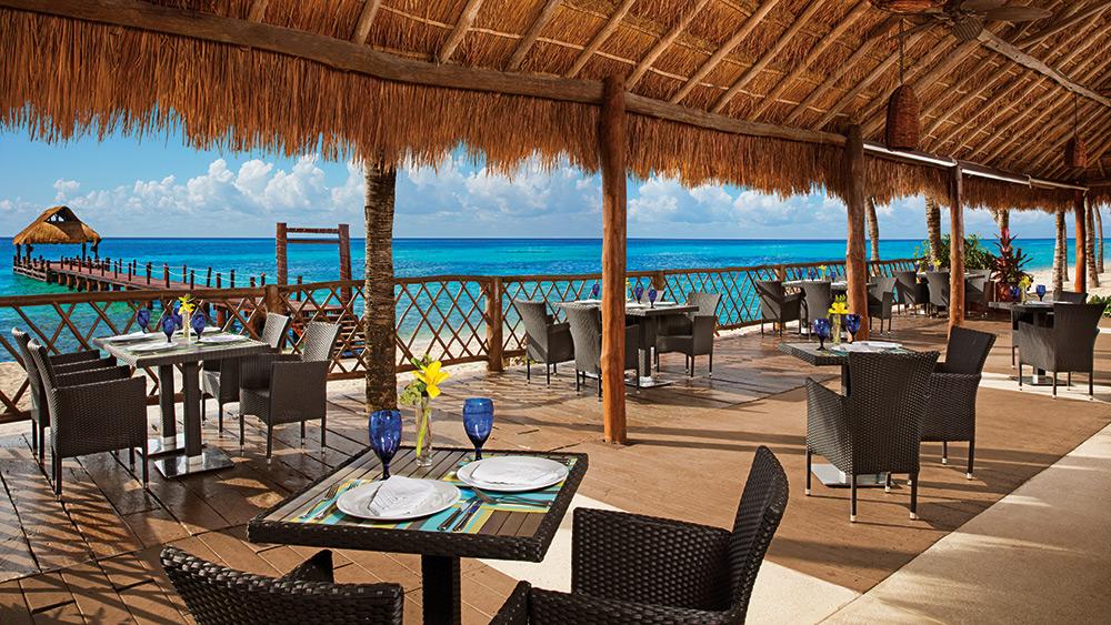 Open air dining at Oceana Restaurant at Secrets Aura Cozumel