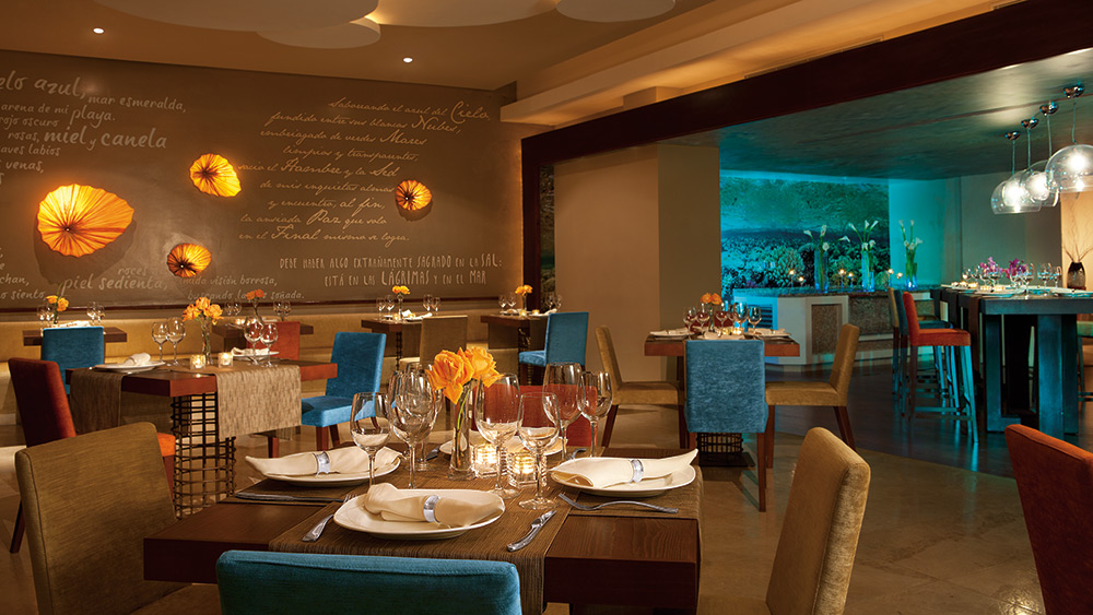 Dining area of Oceana Restaurant at Secrets Royal Beach