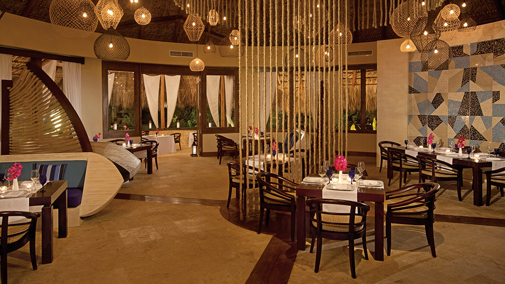Interior of piragua Restaurant at Zoetry Agua Punta Cana