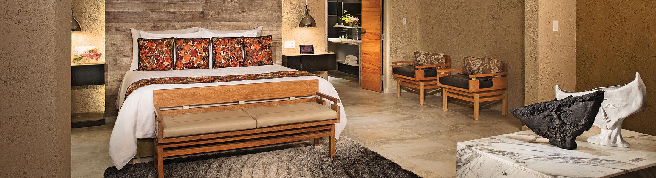 Bedroom of the Presidential Suite at Zoetry Paraiso de la Bonita