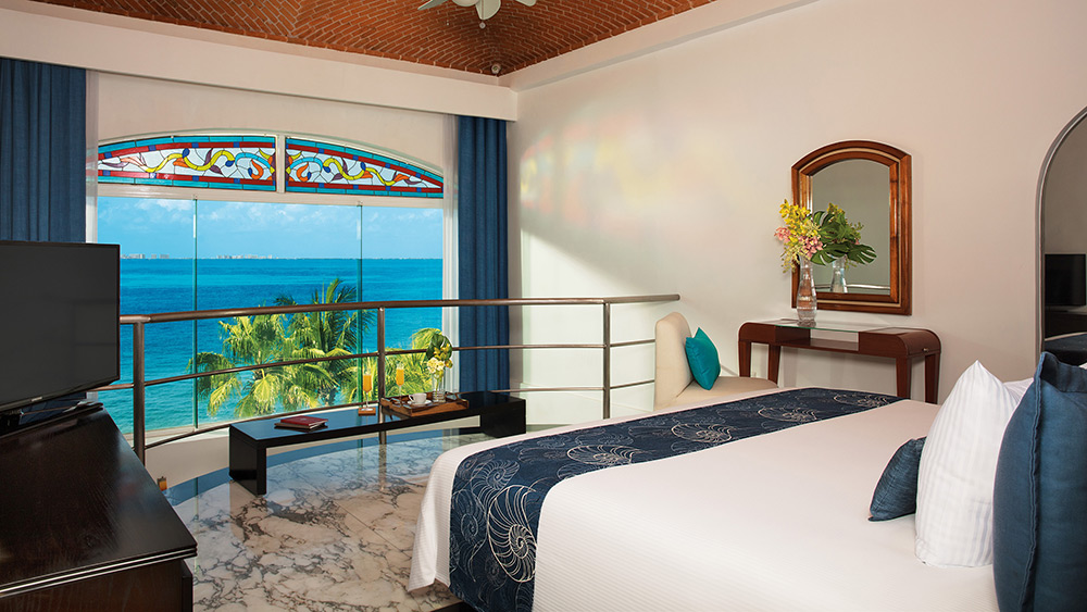 Bedroom of the Presidential Suite at - Zoetry Villa Rolandi Isla Mujeres
