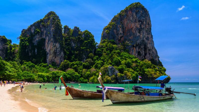 Railay beach west Ao Nang Krabi Thailand