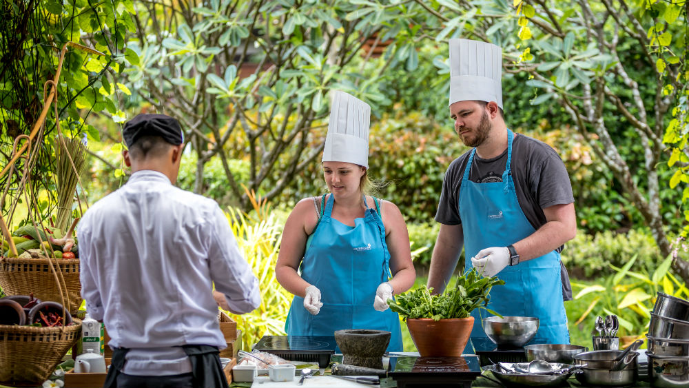 Resort cooking class at the Outrigger koh samui beach resort