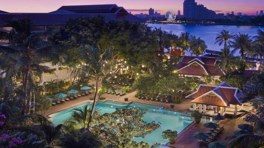 Resort exterior at the Anantara Riverside Bangkok Resort