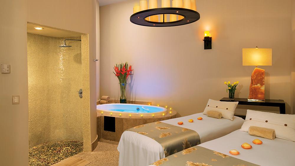 Treatment room in the spa at Secrets Maroma Beach Riviera