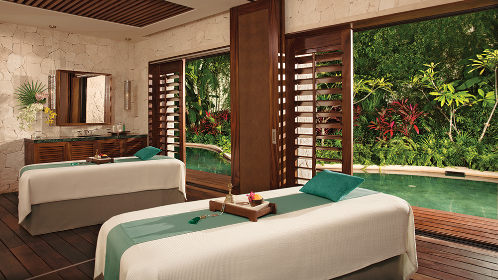 Treatment room at the spa at Secrets Akumal