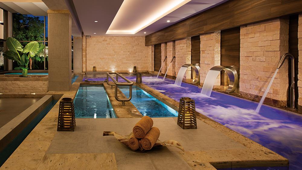 Spa pools at Secrets Aura Cozumel