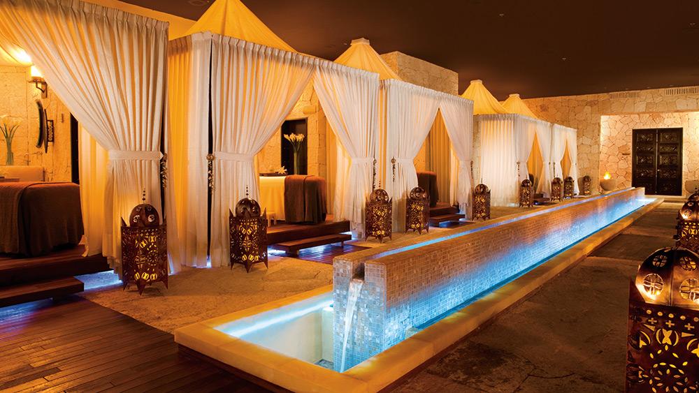 Treatment cabanas in the spa at Secrets Maroma Beach Riviera