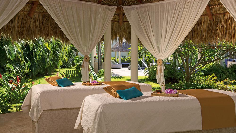 Treatment at the spa at Secrets Royal Beach