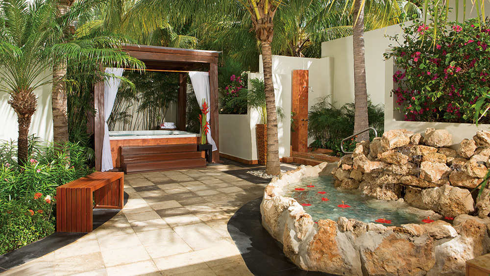 Terrace in the spa at Dreams Sands Cancun