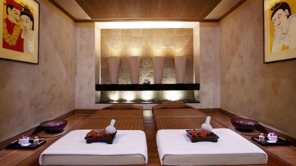 Spa Thai massage room at the Anantara Riverside Bangkok Resort