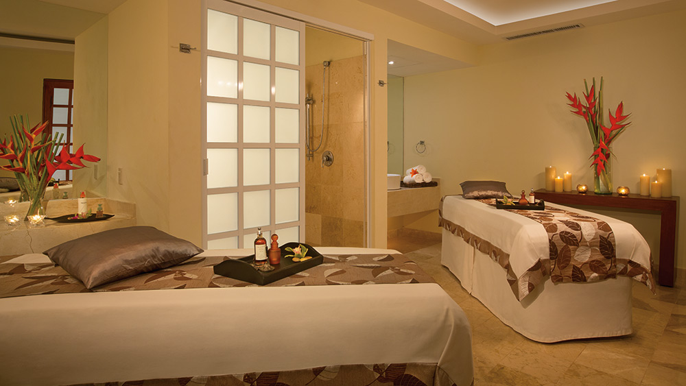 Treatment room in the spa at Dreams Sands Cancun