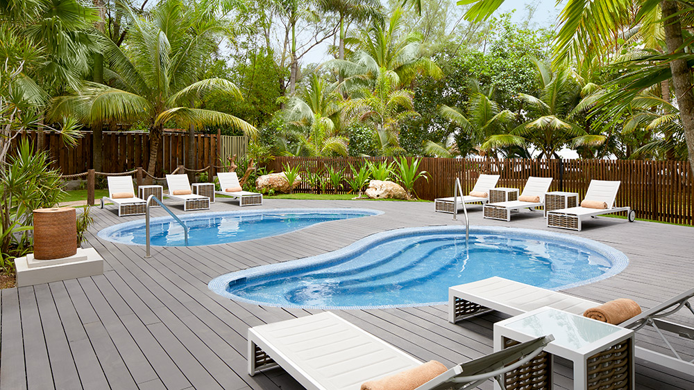 Pools in the spa at Zoetry Montego Bay