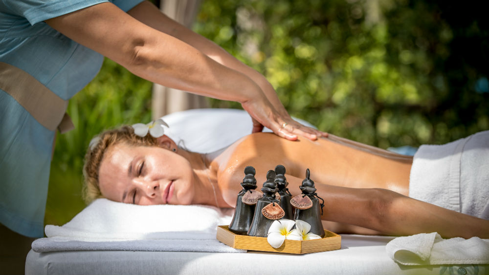 Spa massage at the Outrigger koh samui beach resort