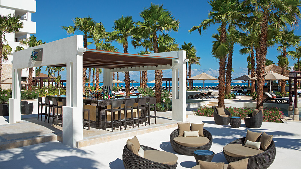 Sugar Reef Bar on the beach at Secrets Playa Mujeres
