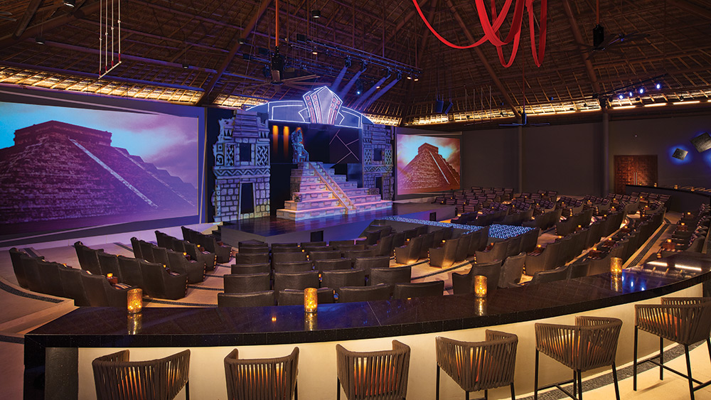 In-resort theatre at Secrets Akumal