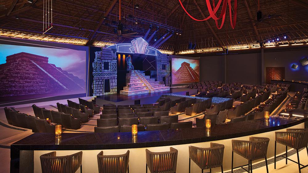 In-resort theatre at Secrets Akumal