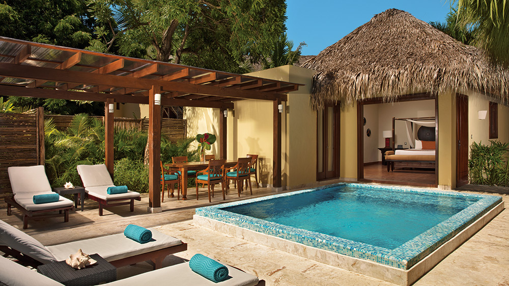 Private pool of the Villa Caney at Zoetry Agua Punta Cana