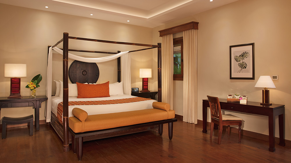 Master bedroom of the Villa Caribe at Zoetry Agua Punta Cana