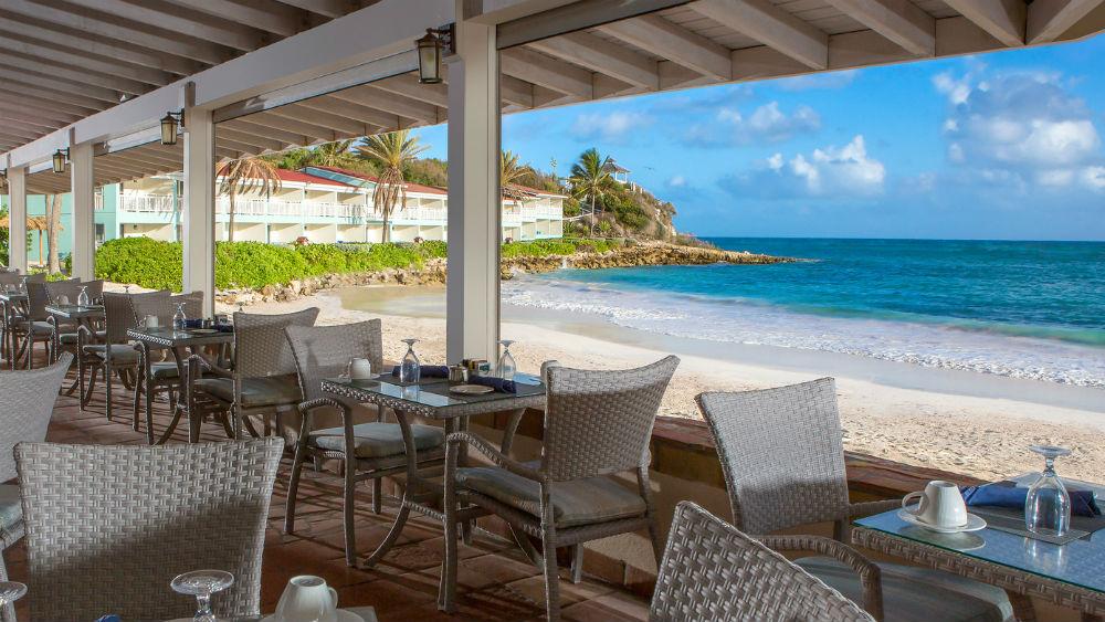 beach front restaurant - Pineapple Beach Club, Antigua