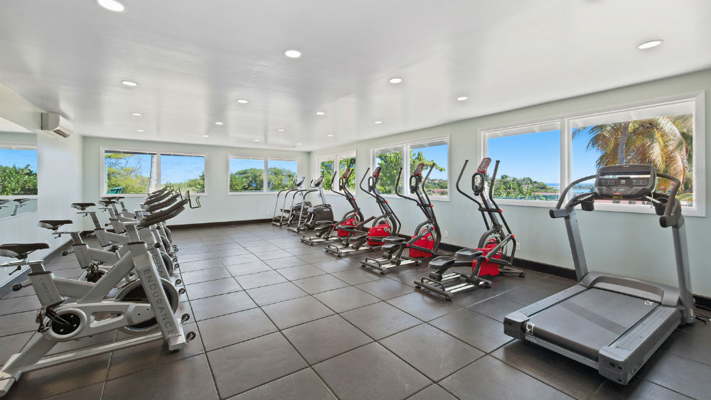 fitness centre at the Pineapple Beach Club, Antigua