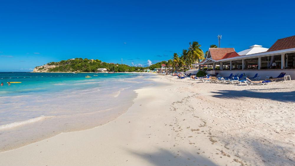 sandy beaches at the Pineapple Beach Club, Antigua