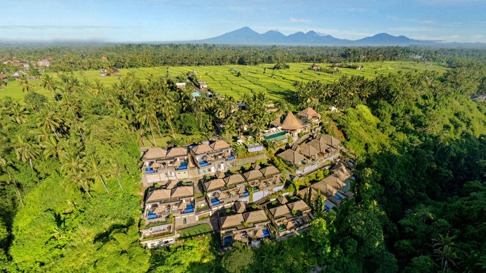 Aerial View of the Viceroy Bali
