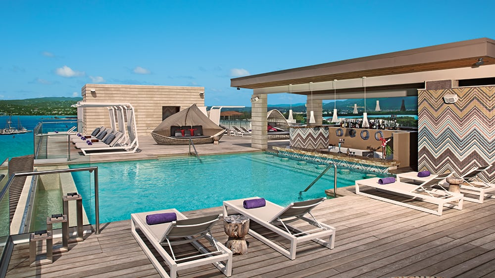 Altitude rooftop bar and pool at Breathless Montego Bay