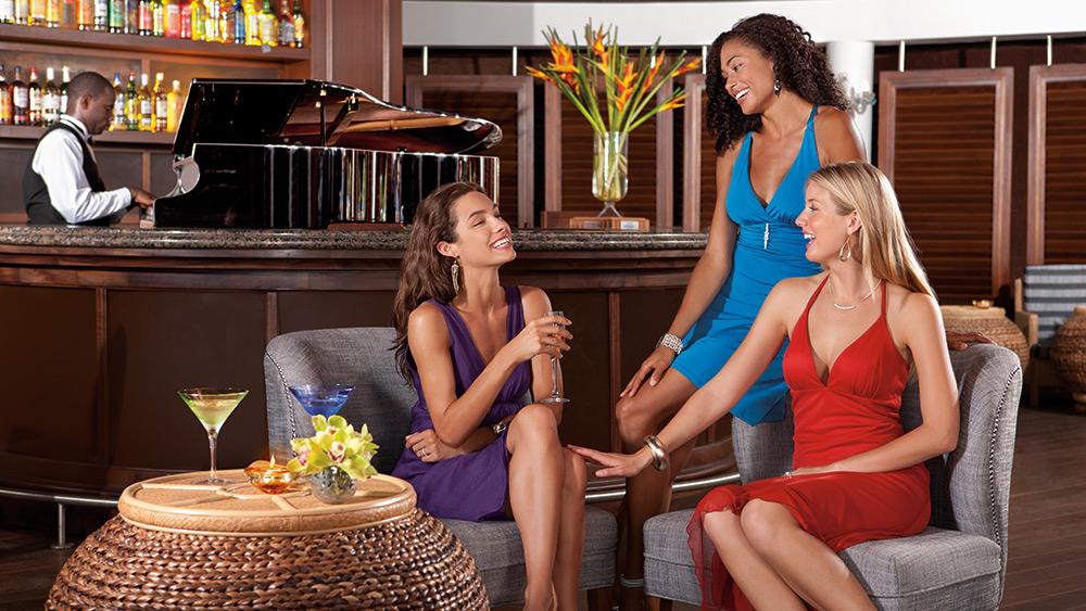 Women at the bar at Secrets St James