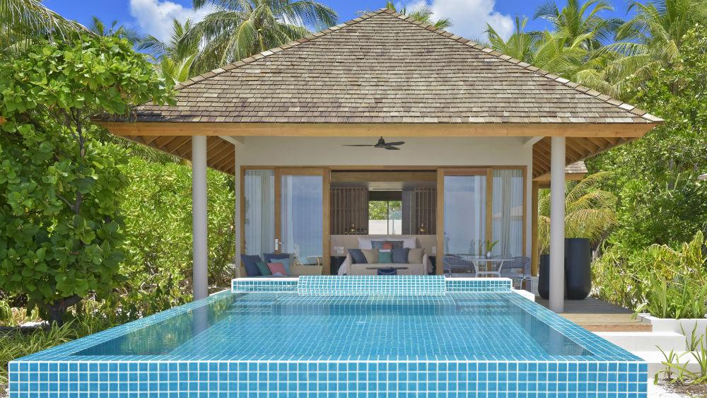 Beach Retreat with pool at the Faarufushi Maldives