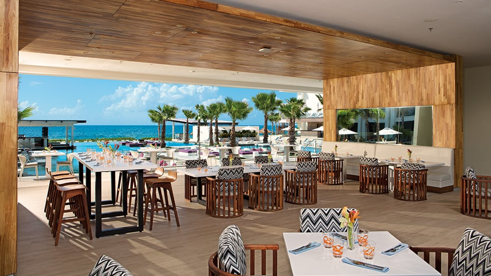 Open air restaurant with sea views at Breathless Riviera Cancun