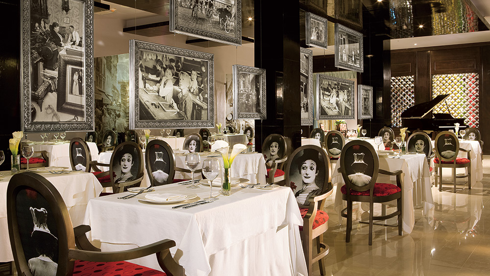 Indoor dining of Bordeaux Restaurant at Secrets Silversands Riviera
