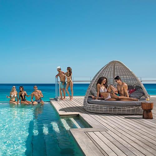 Rooftop bar at Breathless Montego Bay