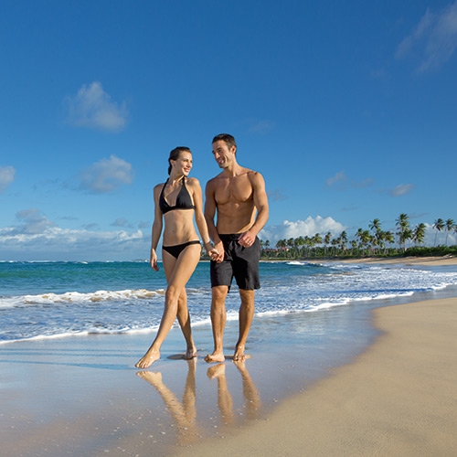 Couple on the beach at Breathless Punta Cana