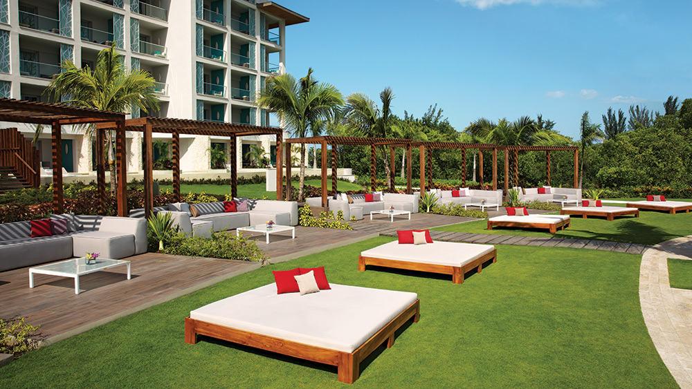 Poolside cabanas at Breathless Montego Bay