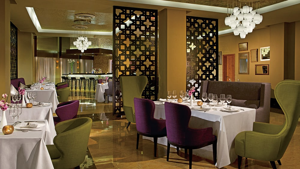 Dining area of Coquette Restaurant at Breathless Punta Cana