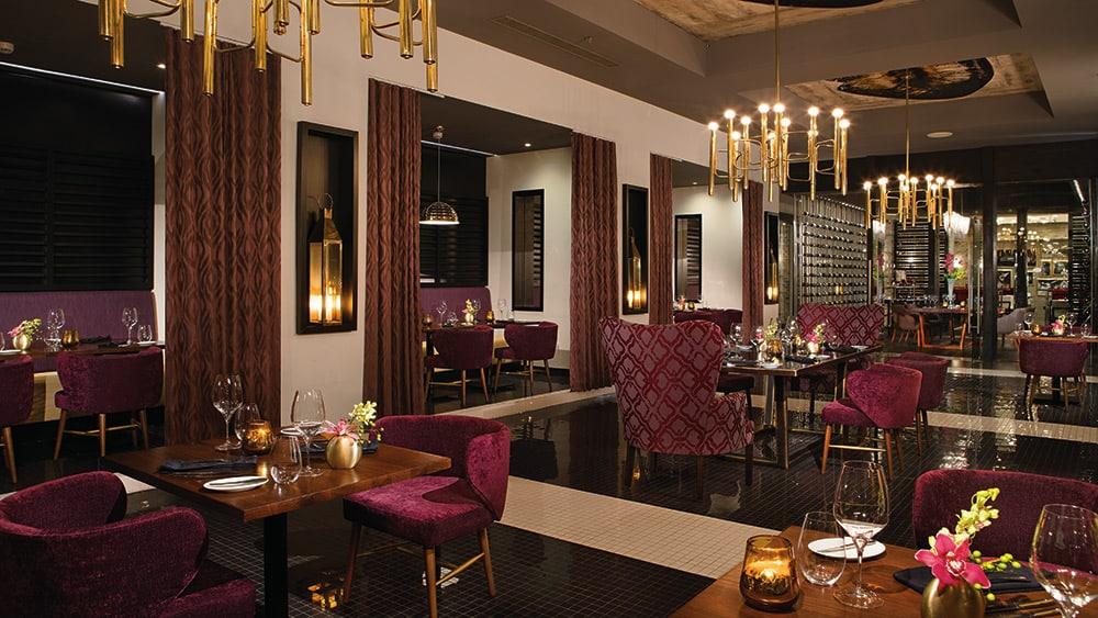 Interior of Coquette Restaurant at Breathless Riviera Cancun