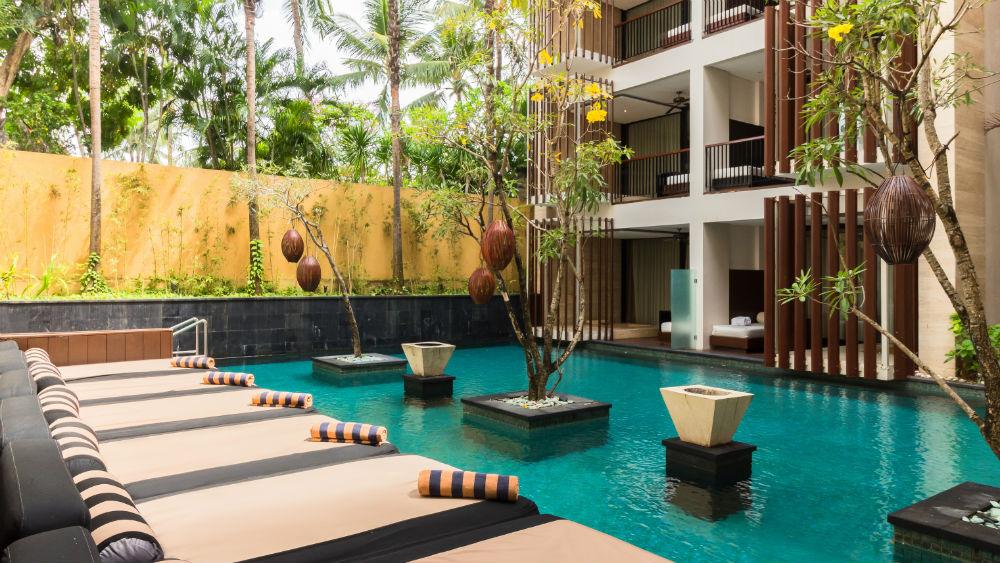 Courtyard Swimming Pool at the Anantara Seminyak Bali