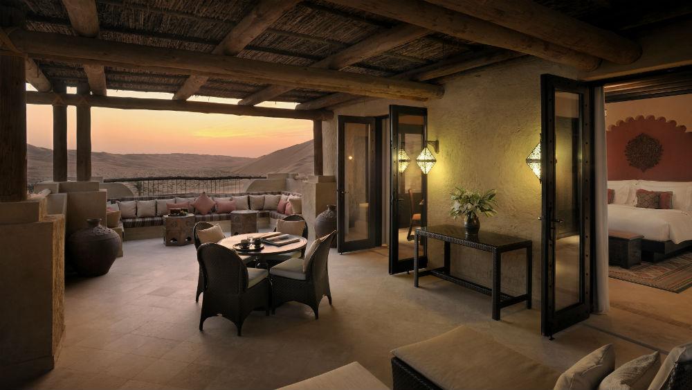 Deluxe Terrace Room at the Qasr Al Sarab Desert Resort