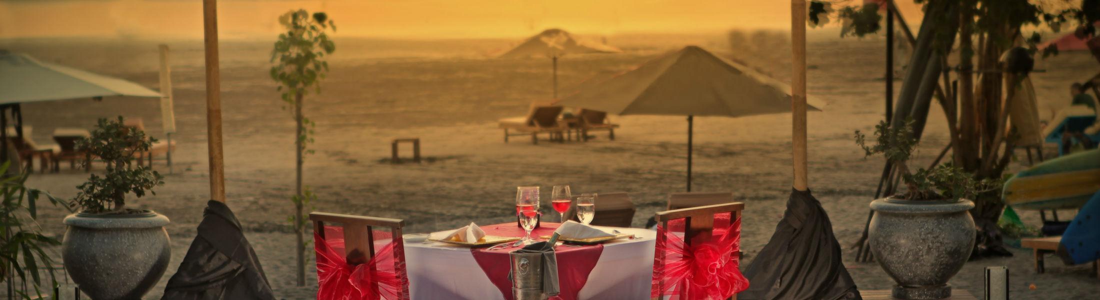 Dining By Design on the beach at the Anantara Seminyak Bali