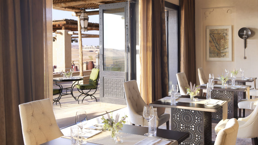 Restaurant at Anantara Qasr Al Sarab Desert Resort