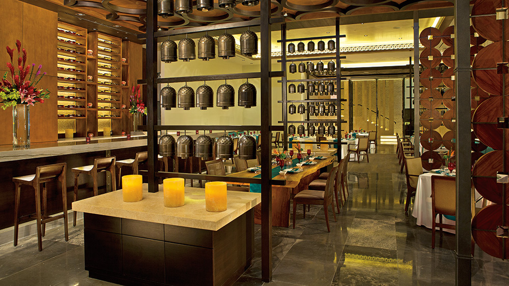 Indoor dining at Dragons Oriental Dining at Secrets The Vine