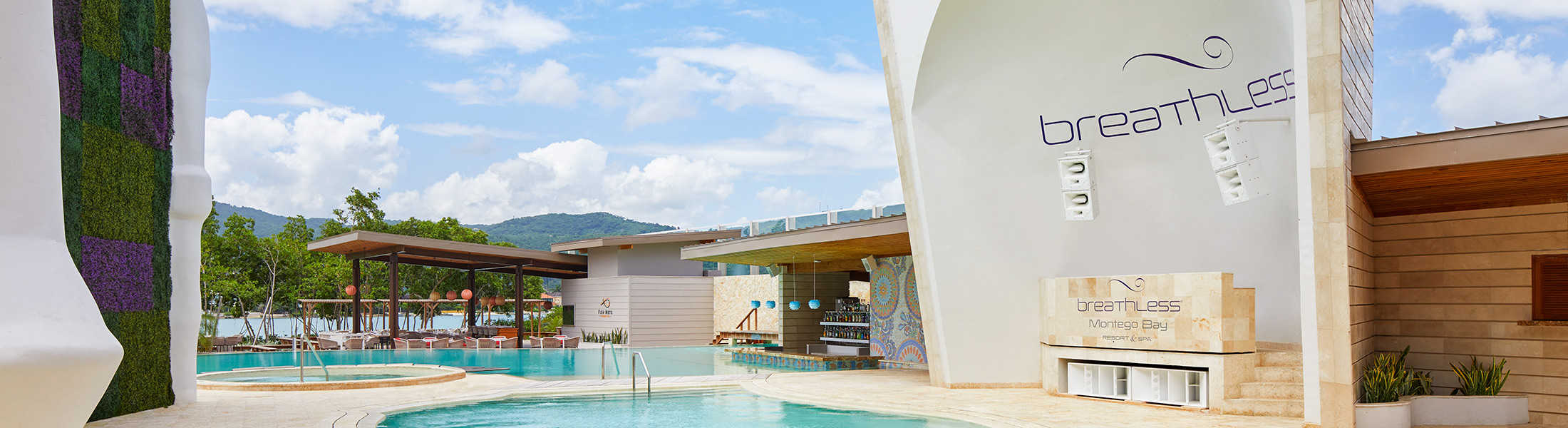 Freestyle pool and swim up bar at Breathless Montego Bay
