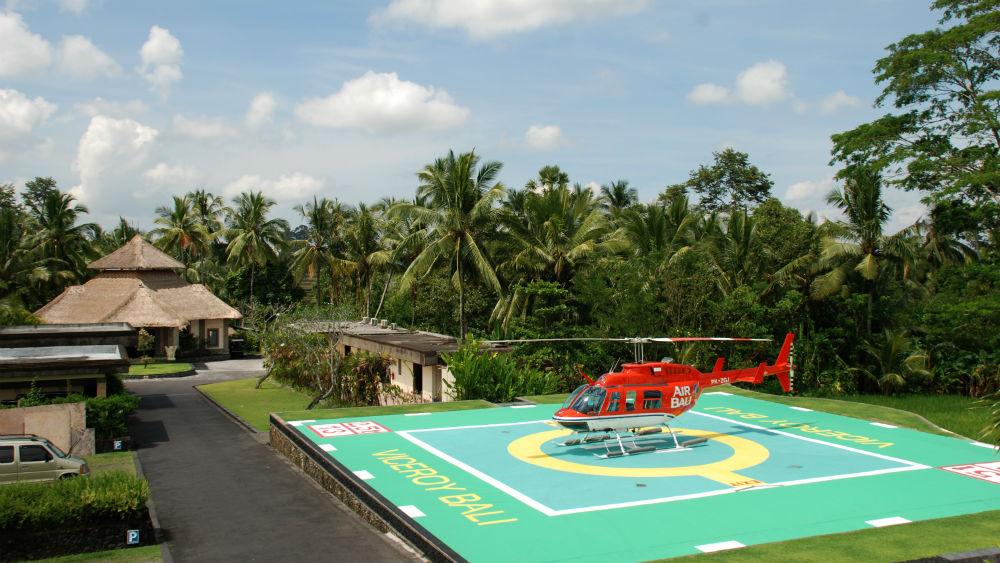 Helicopter Pad at the Viceroy Bali
