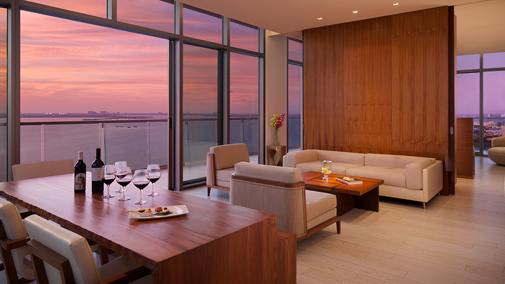 Living room of the Master Suite Ocean View at Secrets The Vine