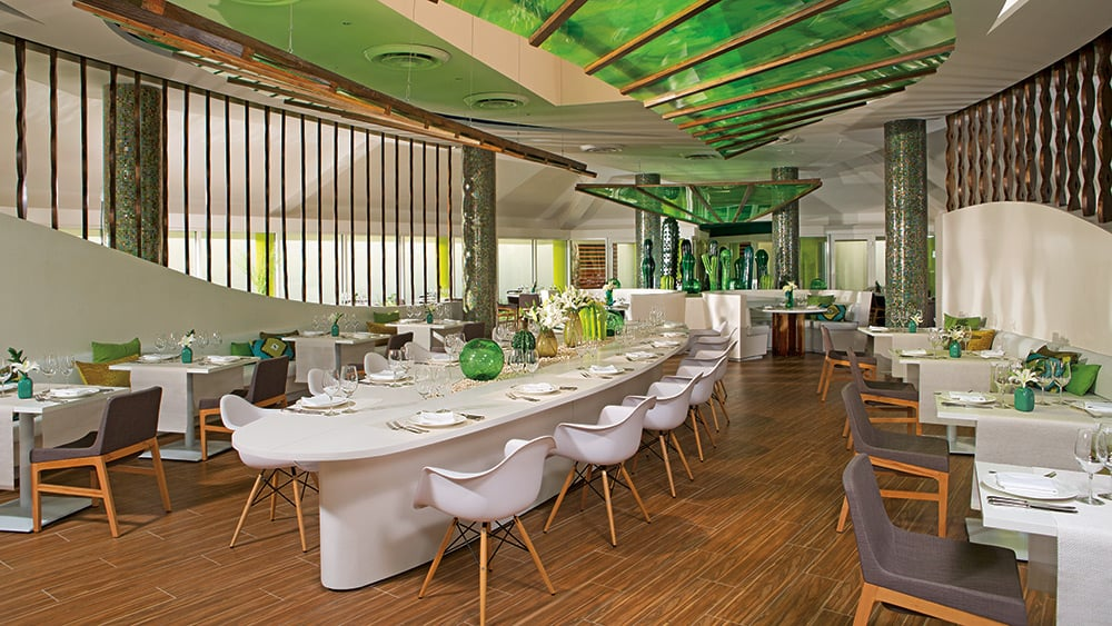 Indoor dining at Picante Restaurant at Breathless Punta Cana