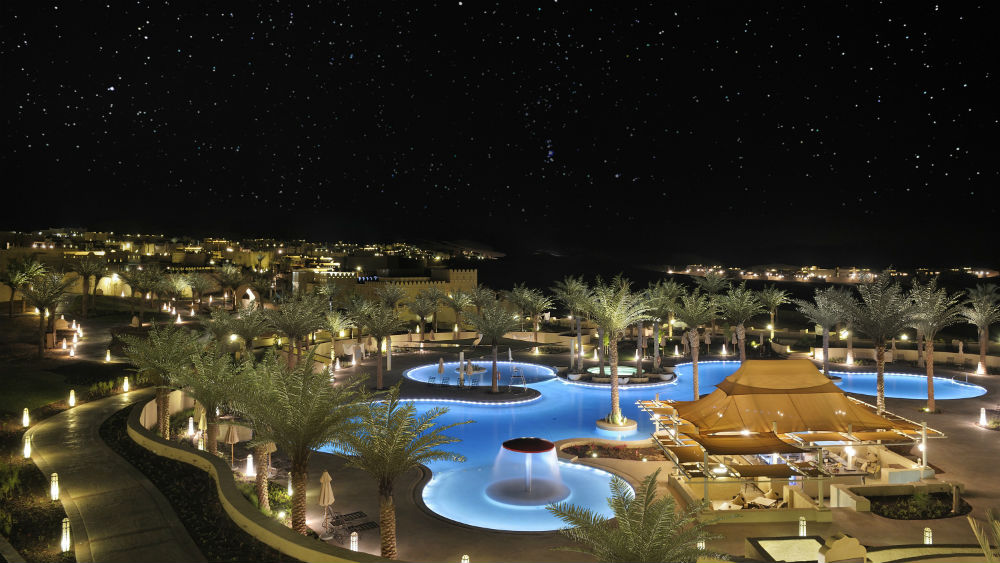 Pool By Night Qasr Al Sarab Desert Resort