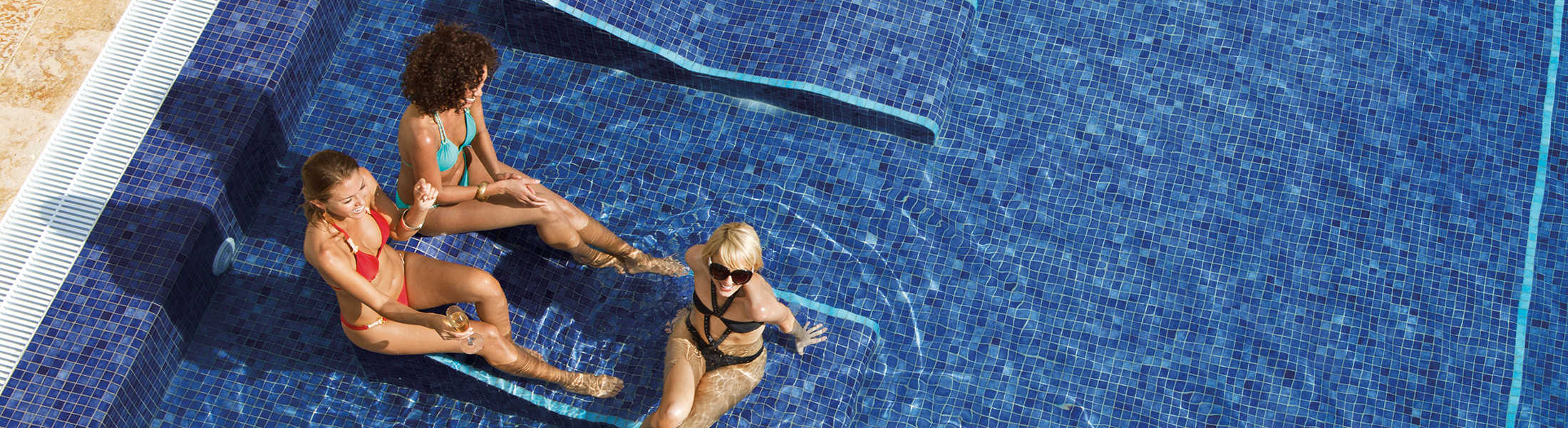 Friends in the pool at Breathless Punta Cana